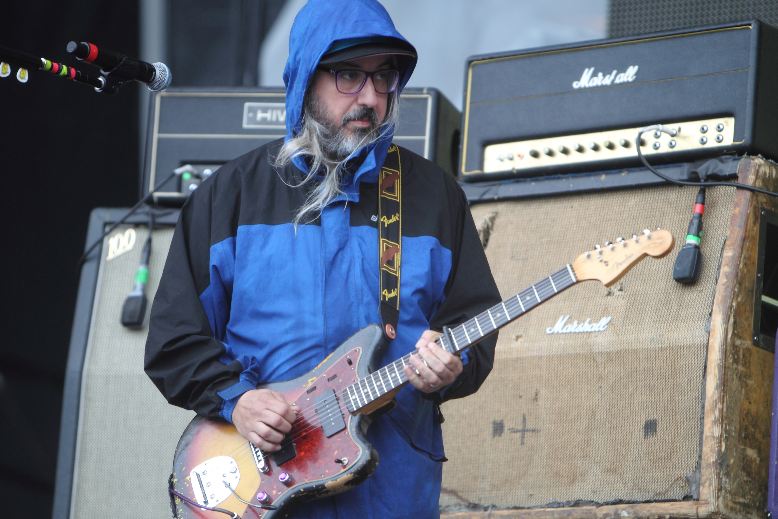 NEW YORK, NY - JUNE 07: J Mascis of Dinosaur Jr. performs on stage on Day 1 of The Governors Ball Music Festival at Randall's
