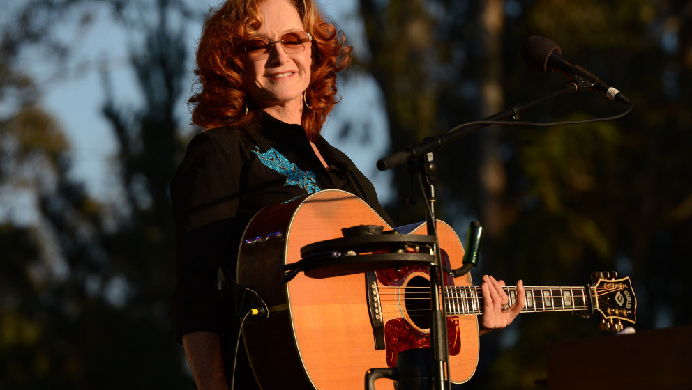 SAN FRANCISCO, CA - OCTOBER 04:  Musician Bonnie Raitt performs during the Hardly Strictly Bluegrass Festival at Golden Gate