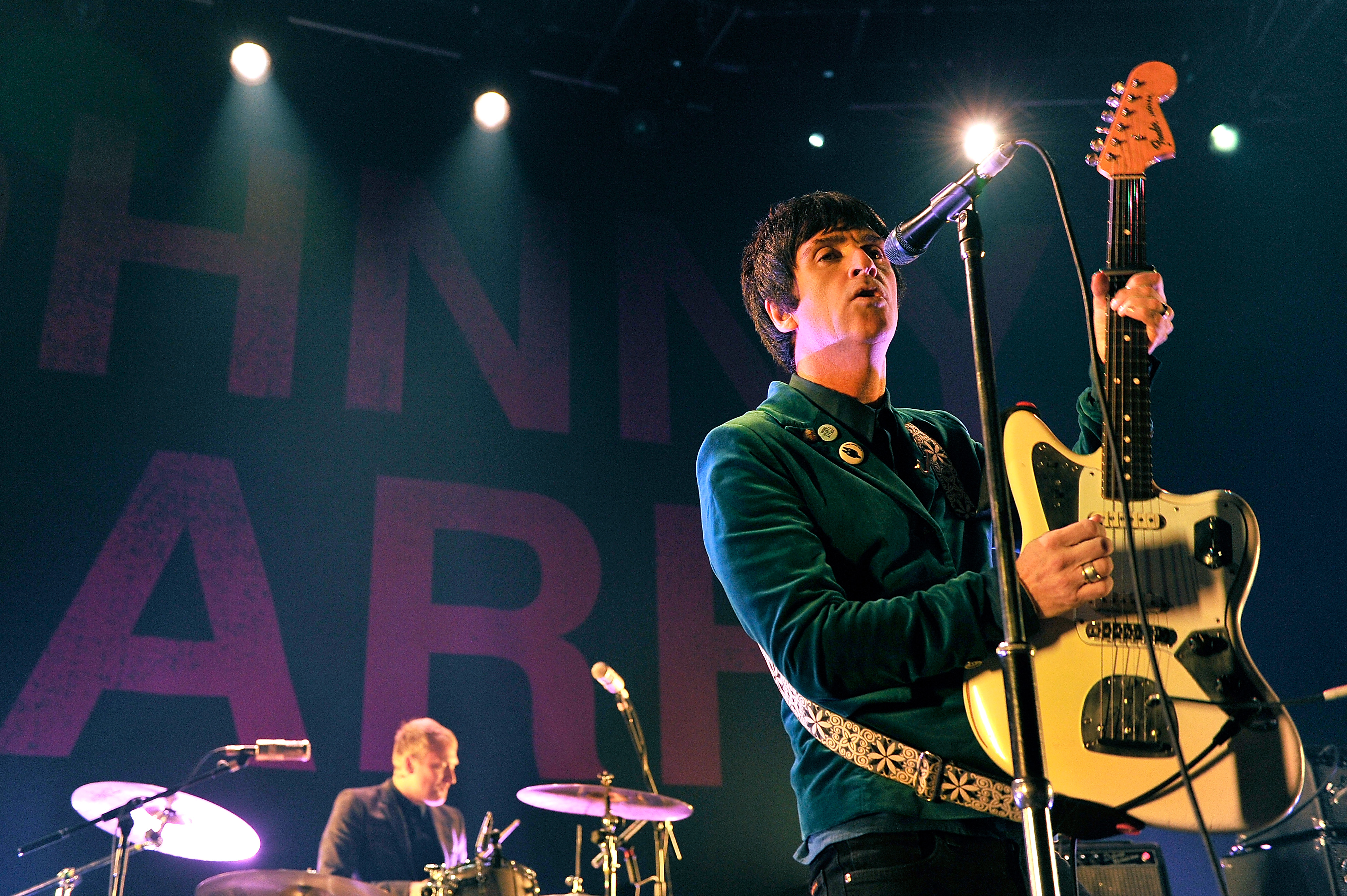 LONDON, ENGLAND - OCTOBER 18:  Johnny Marr performs at The Roundhouse on October 18, 2013 in London, England.  (Photo by Matt