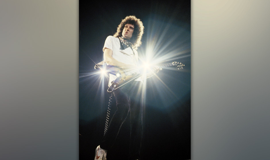 Brian May of Queen, 1982 Tour (Photo by Steve Jennings/WireImage)