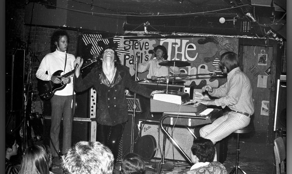 NEW YORK - JUNE 27:  Guitarist Robby Krieger, singer Jim Morrison, drummer John Densmore and keyboardist Ray Manzarek of the