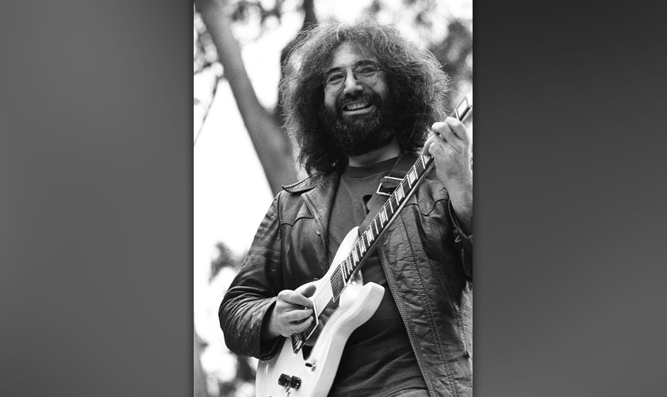 SAN FRANCISCO - 1975:  Jerry Garcia of The Grateful Dead performs live at Golden Gate Park in 1975 in San Francisco, Californ
