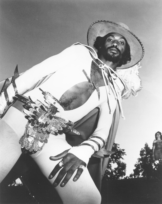 1977:  Parliament guitarist Eddie Hazel poses for a portrait to publicize the release of his solo album 'Games, Dames and Gui