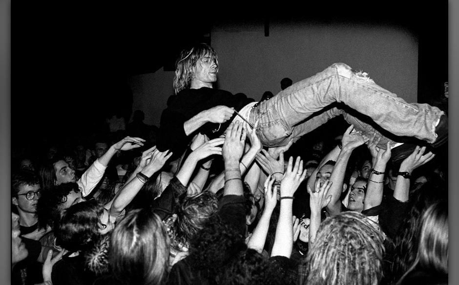 12-11-1991 FrankfurtNirvana, singer Kurt Cobain. Grunge from SeattleCopyright Paul Bergen