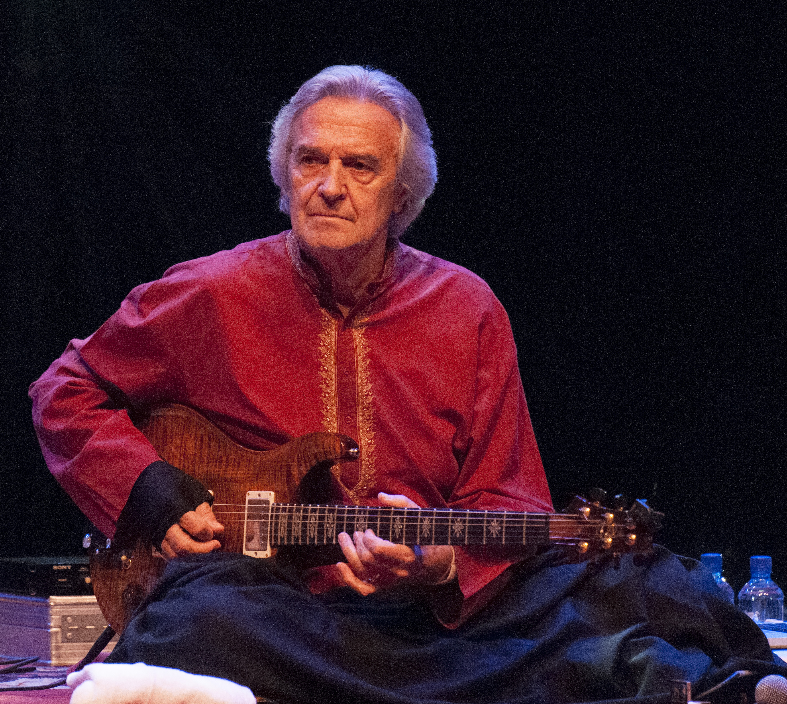 LONDON, UNITED KINGDOM - NOVEMBER 21: John McLaughlin of Remember Shakti performs on stage during day 7 of London Jazz Festiv