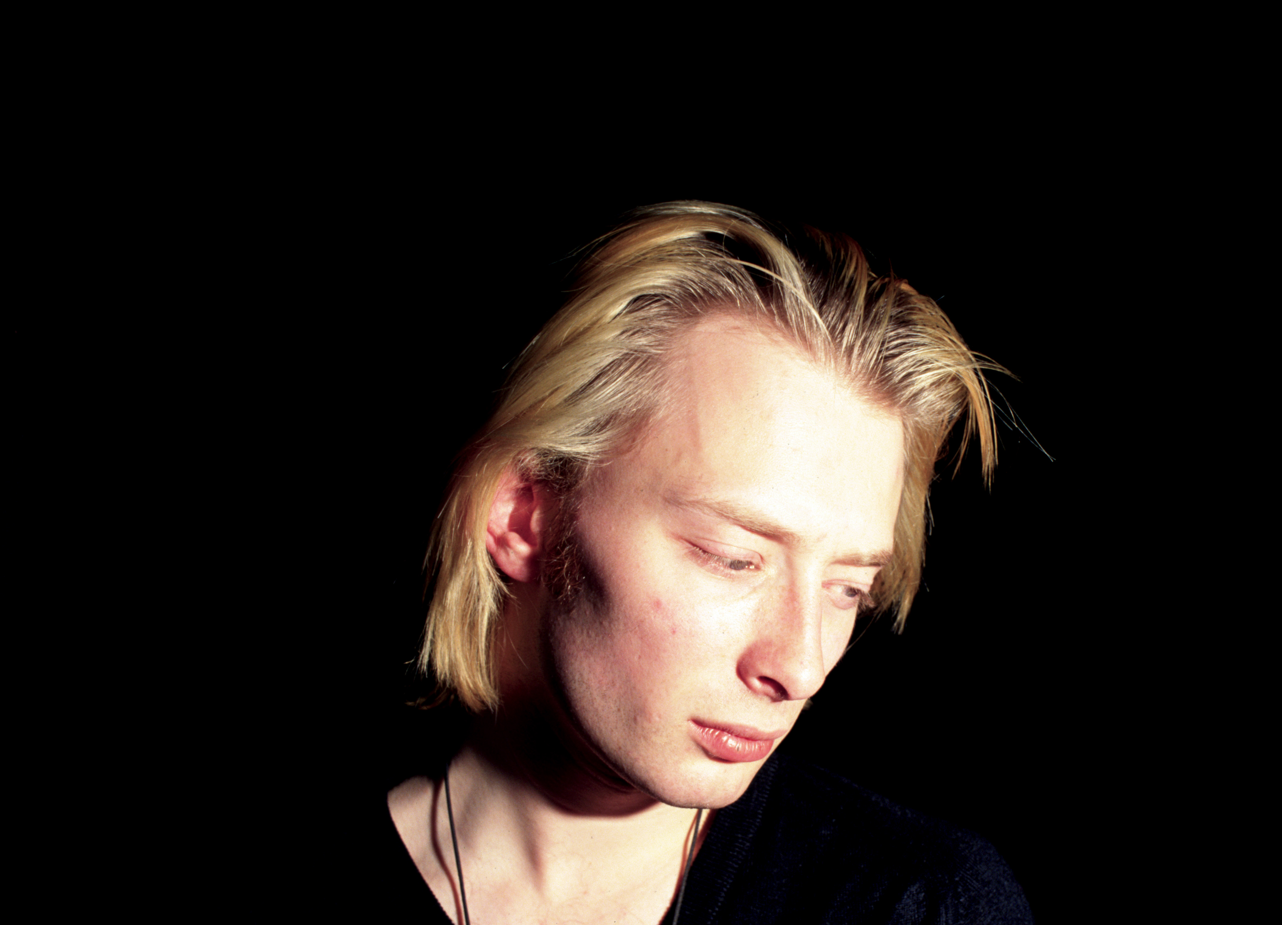 Portrait of Thom Yorke from Radiohead photographed in the early 1990's. (Photo by Alastair Indge/Photoshot/Getty Images) ***