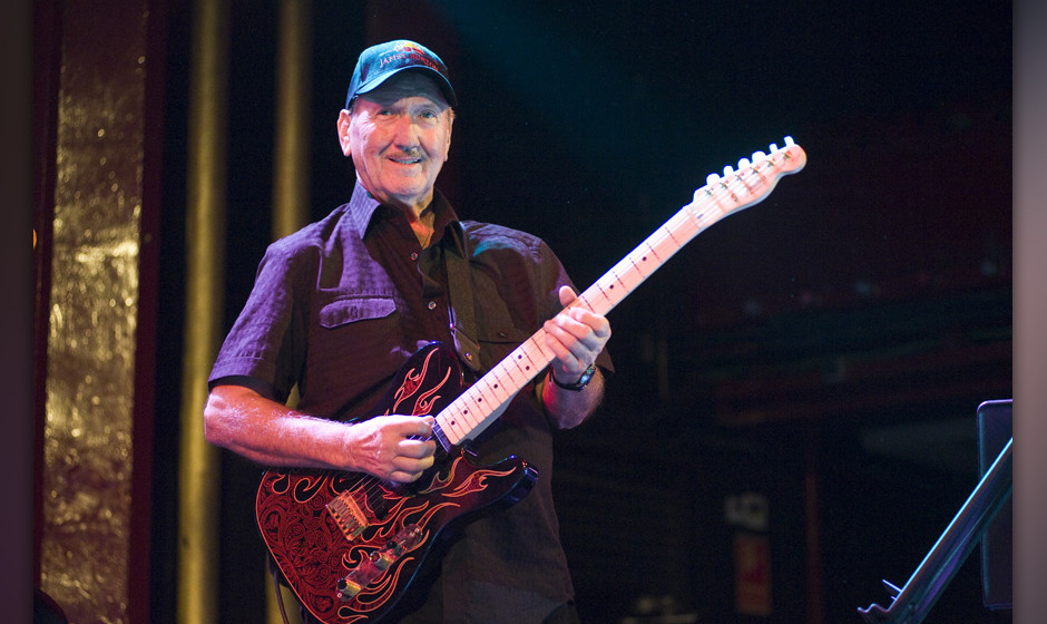 BARCELONA, SPAIN - SEPTEMBER 22: James Burton of The TCB Band performs on stage at Sala Apolo on September 22, 2012 in Barcel