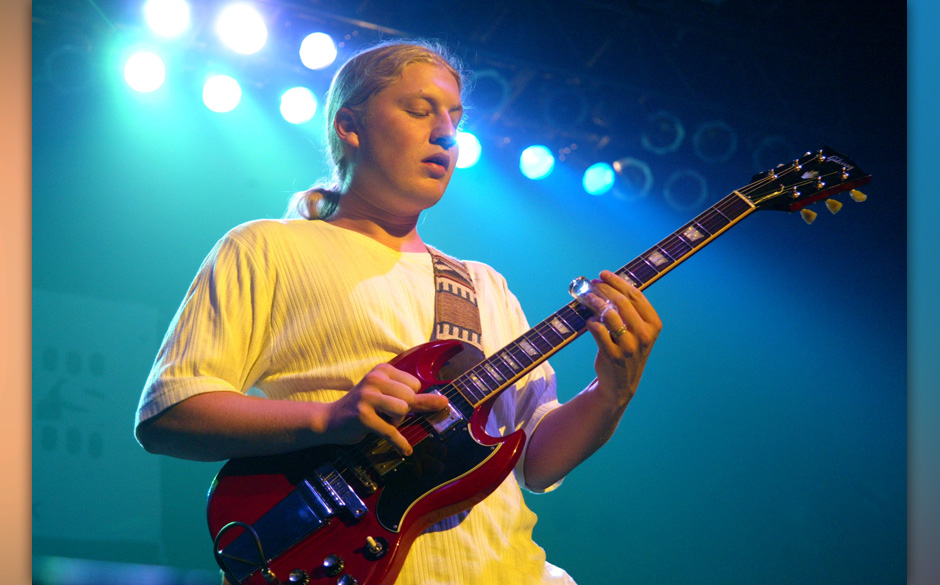 Derek Trucks playing with Allman Brothers Band at the 2002 Jammy Awards presented by TDK at Roseland Ballroom in New York Cit