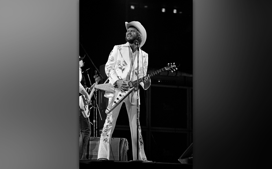 Billy Gibbons of ZZ Top during ZZ Top in Concert at the Omni Coliseum in Atlanta - August 30, 1974 at Omni Coliseum in Atlant