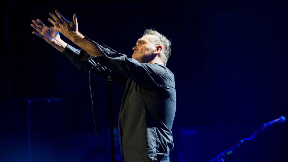 Morrissey performs on stage the Arlene Schnitzer Concert Hall, Portland, Oregon, USA on 8th March 2013. (Photo by Anthony Pid
