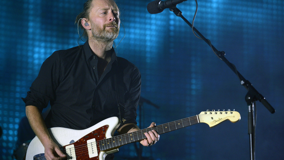MELBOURNE, AUSTRALIA - NOVEMBER 16: Thom Yorke of Radiohead performs on stage at the Rod Laver Arena on 16th November 2012, i