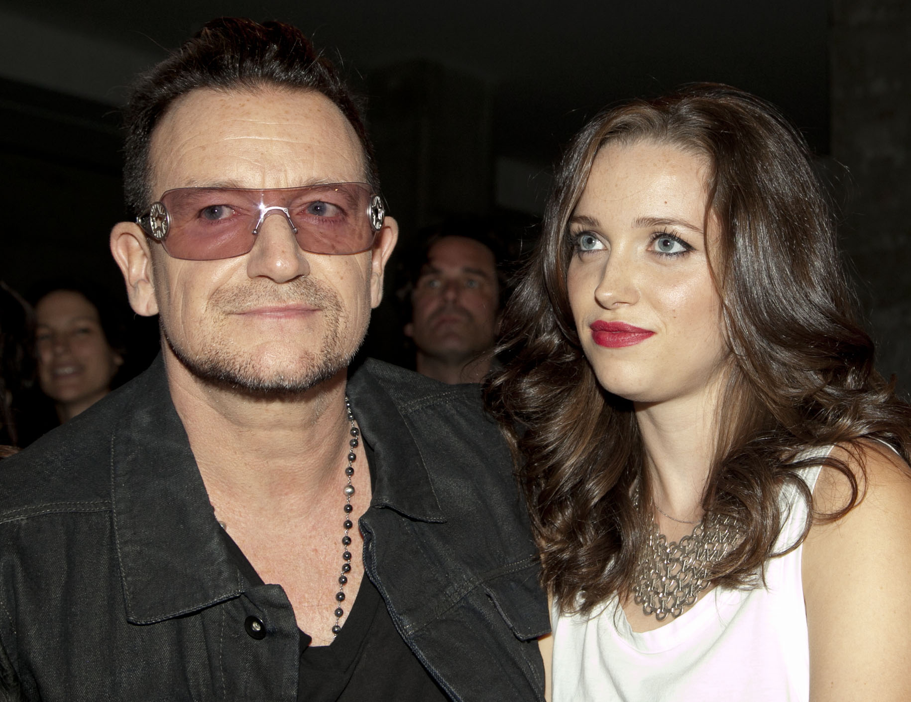 NEW YORK, NY - SEPTEMBER 08:  Bono and daughter Jordan Hewson attend the Edun fashion show during Mercedes-Benz Fashion Week