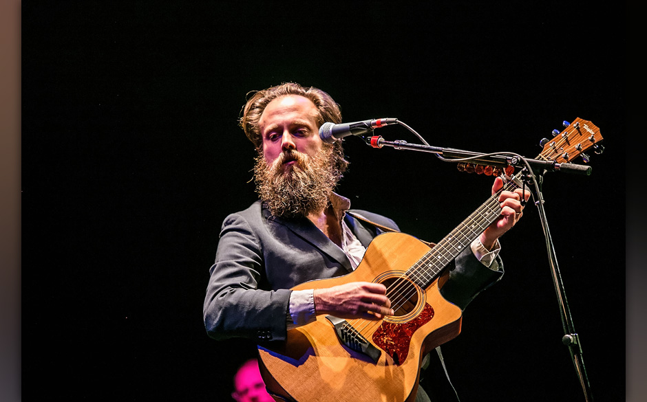 SEATTLE, WA - NOVEMBER 04:  Samuel Beam of Iron and Wine performs at Paramount Theatre on November 4, 2013 in Seattle, Washin