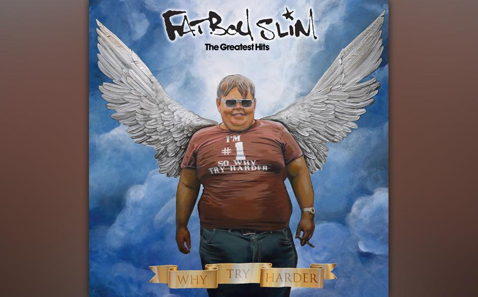 Das Best-of-Album von Norman Cook alias Fatboy Slim zeigt ein  ikonisches Gemälde...