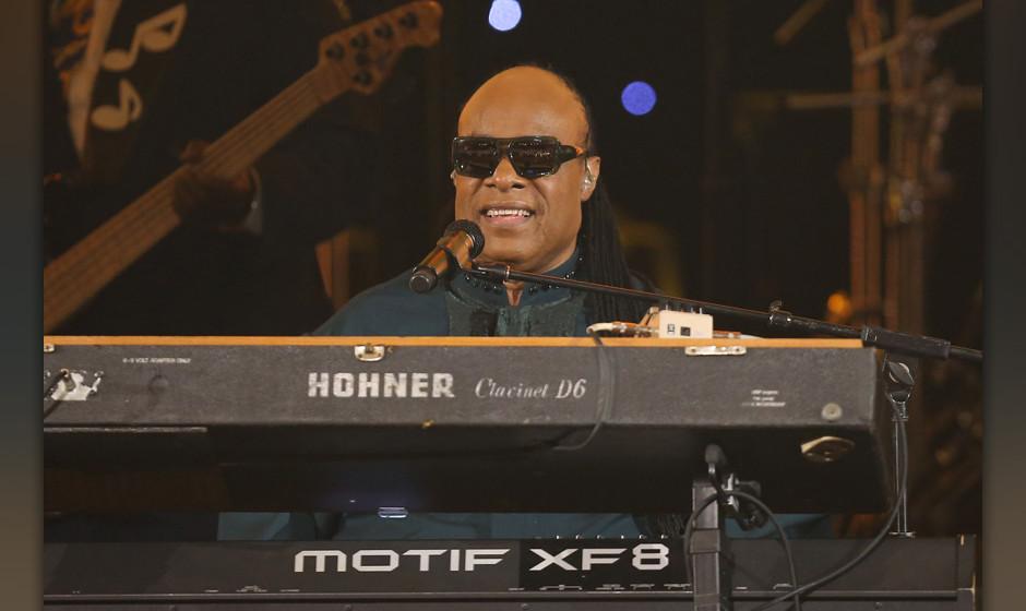 PASADENA, CA - FEBRUARY 22:  Stevie Wonder performs onstage during the 45th NAACP Image Awards held at Pasadena Civic Auditor