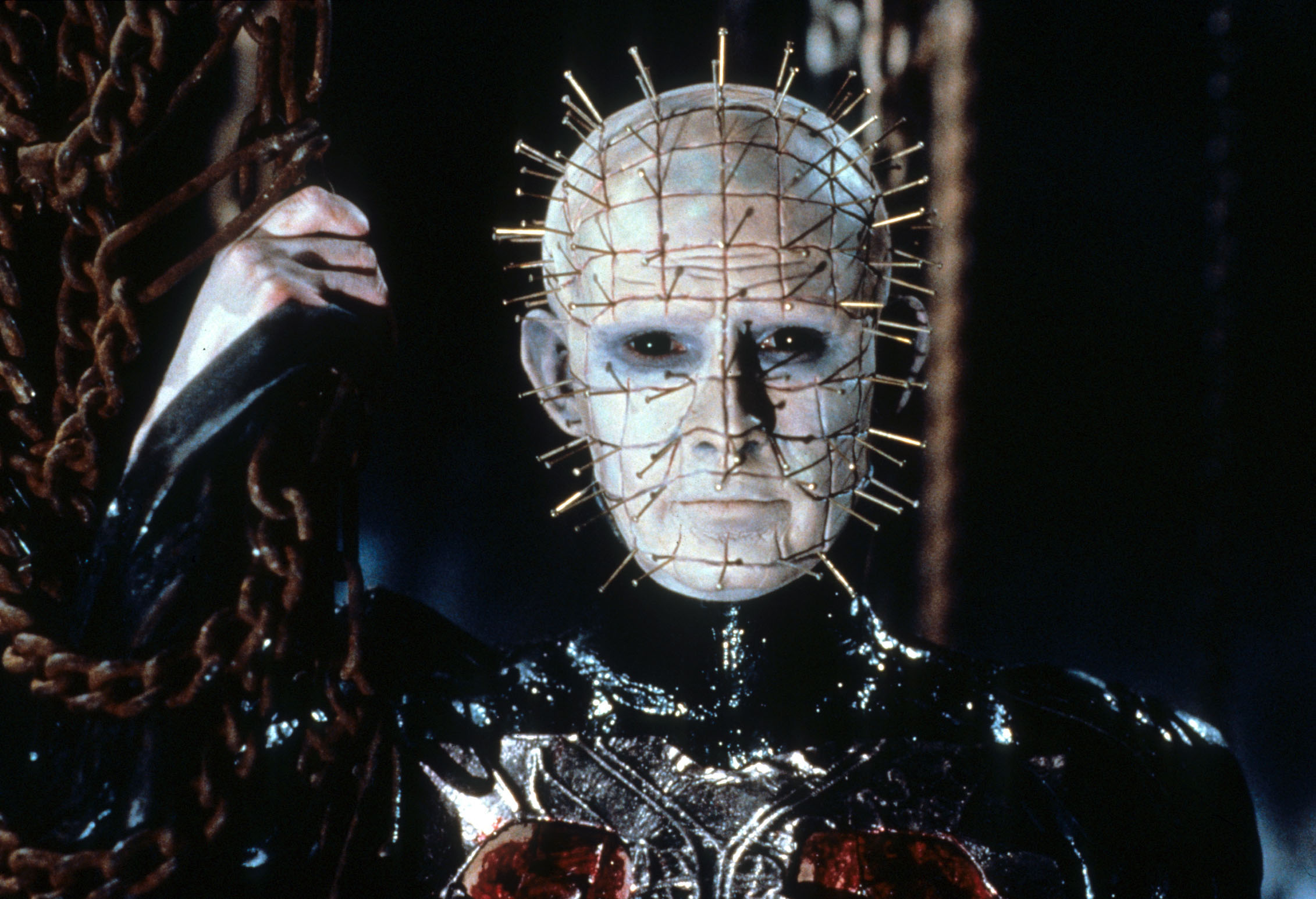HELLBOUND: HELLRAISER II [US 1988]  DOUG BRADLEY as Pinhead     Date: 1988 (Mary Evans Picture Library) Keine Weitergabe an D