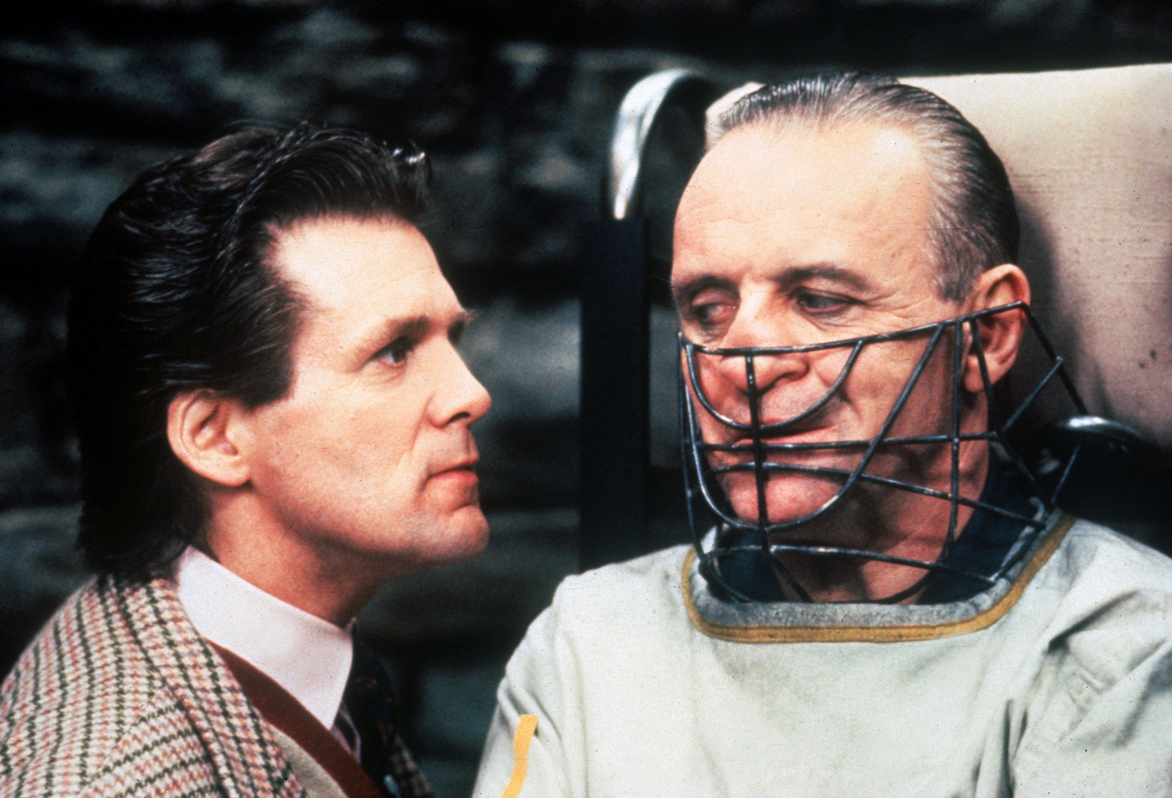 THE SILENCE OF THE LAMBS [US 1991]  ANTHONY HEALD, ANTHONY HOPKINS as  Dr. Hannibal Lecter       Date: 1991 (Mary Evans Pictu