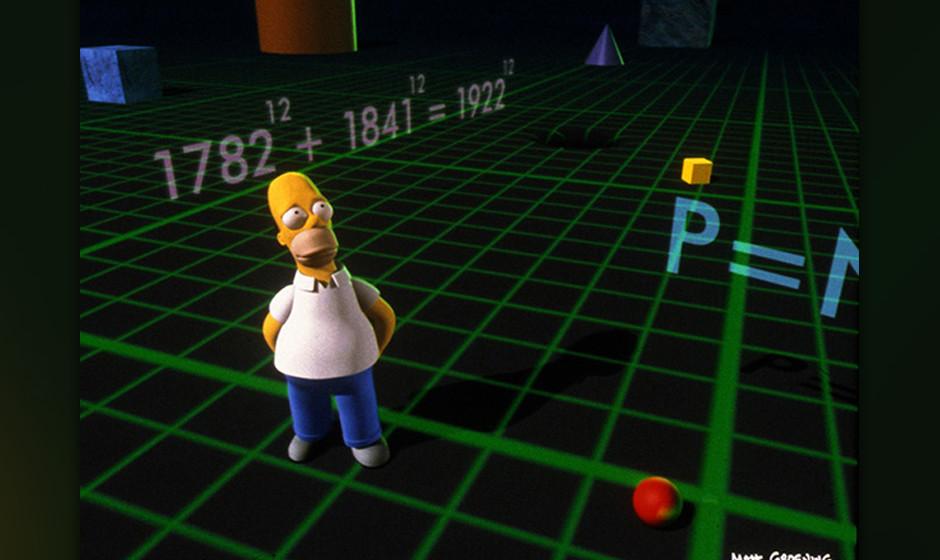 Aber der absolute Höhepunkt wartet mit der letzten Geschichte auf uns: Homer wird in die dritte Dimension katapultiert. Und