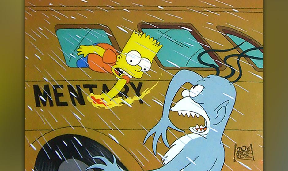 Weiter geht es mit dem Zitatereigen: Bart erinnert an eine 'Twilight Zone'-Episode, die auch in aufwändigerer Form in dem we
