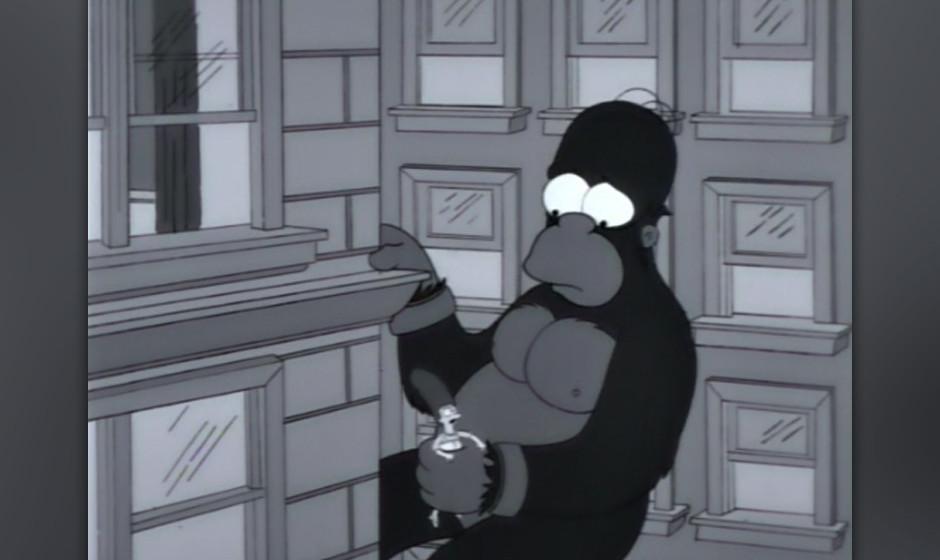 "...um sich dann an eine subtile King-Kong-Hommage zu wagen. Legendärer Dialog in der Folge: Carl: ""I heard we're goin'"
