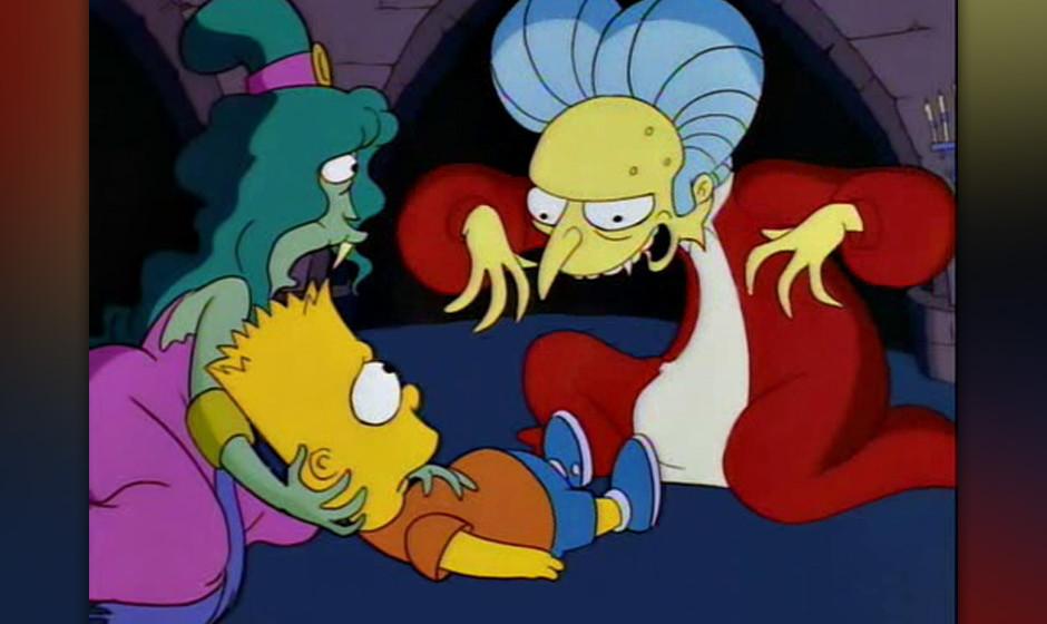 Schließlich darf Dracula nicht fehlen. Natürlich ist es Mr. Burns - mit 'Nosferatu'-Schloss in 'Pennsylvania'. Aber der Obe