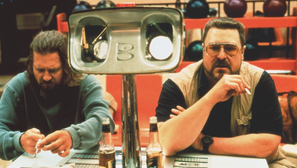 The Big Lebowski (The Big Lebowski, USA 1998, Regie: Joel und Ethan Coen) Jeff Bridges, John Goodman / zwei Männer, Freunde,