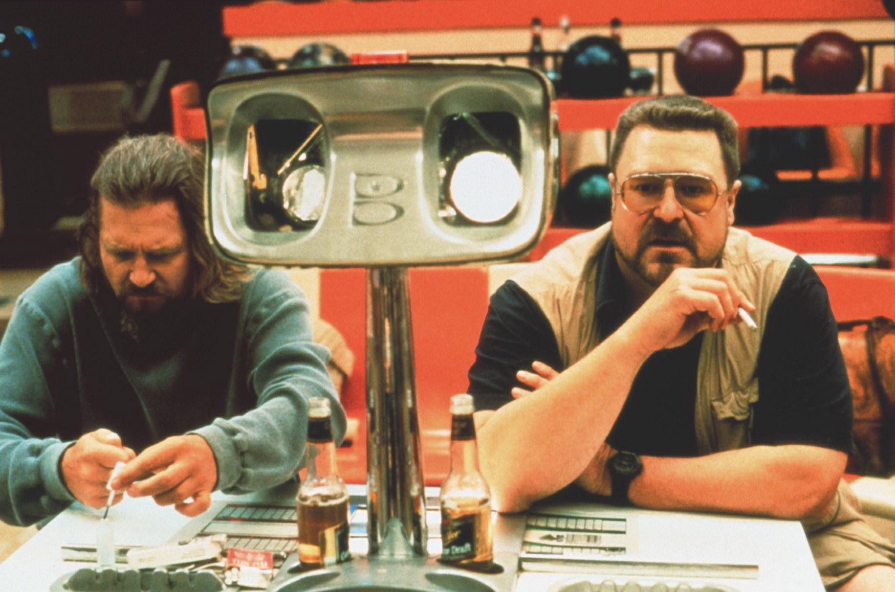 The Big Lebowski (The Big Lebowski, USA 1998, Regie: Joel und Ethan Coen) Jeff Bridges, John Goodman / zwei Männer, Freunde,