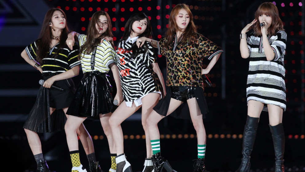 SEOUL, SOUTH KOREA - JUNE 07:  4minute perform onstage during the 2014 Dream Concert at Seoul World Cup Stadium on June 7, 20