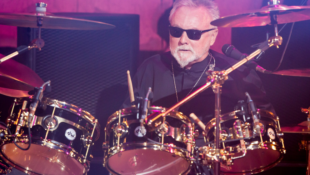 BURBANK, CA - JUNE 16:  Musician Roger Taylor of Queen performs at iHeartRadio Theater on June 16, 2014 in Burbank, Californi