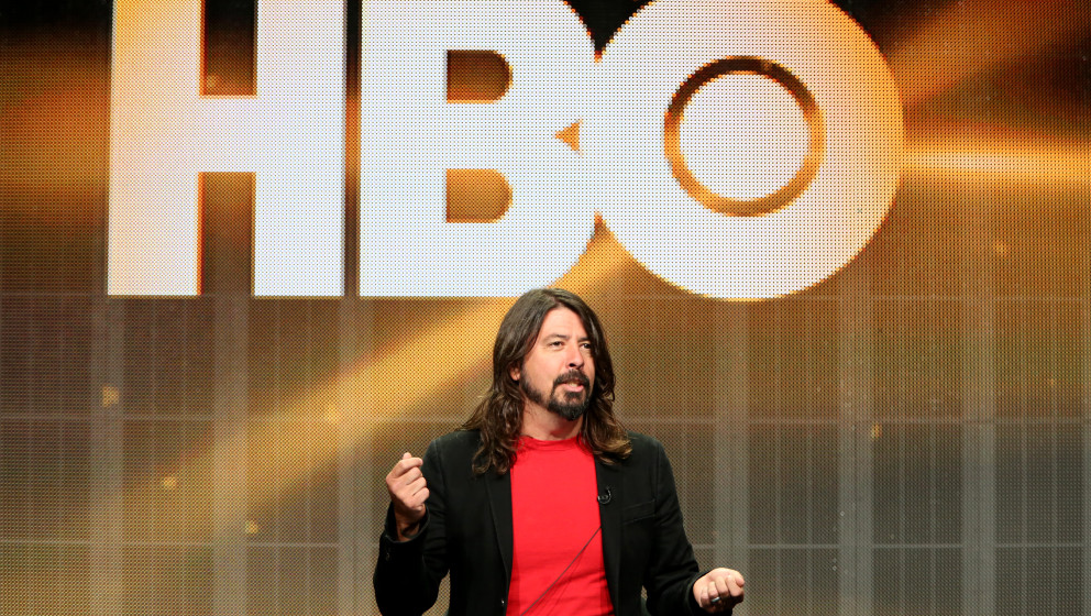 BEVERLY HILLS, CA - JULY 10:  Dave Grohl, Director/Writer/Executive Producer of HBO's Foo Fighters ; Sonic Highways speaks on
