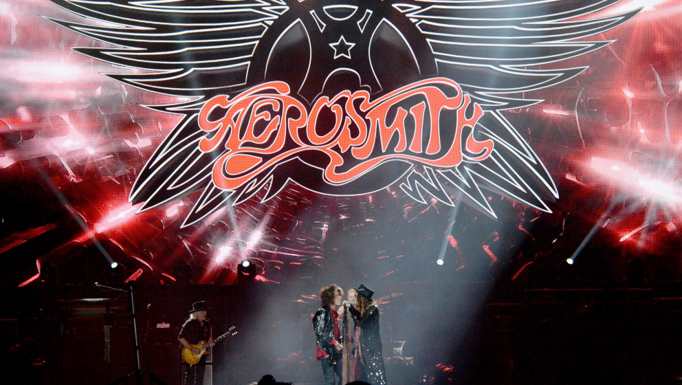 NEWARK, NJ - SEPTEMBER 03:  Aerosmith performs at Prudential Center on September 3, 2014 in Newark, New Jersey.  (Photo by Za