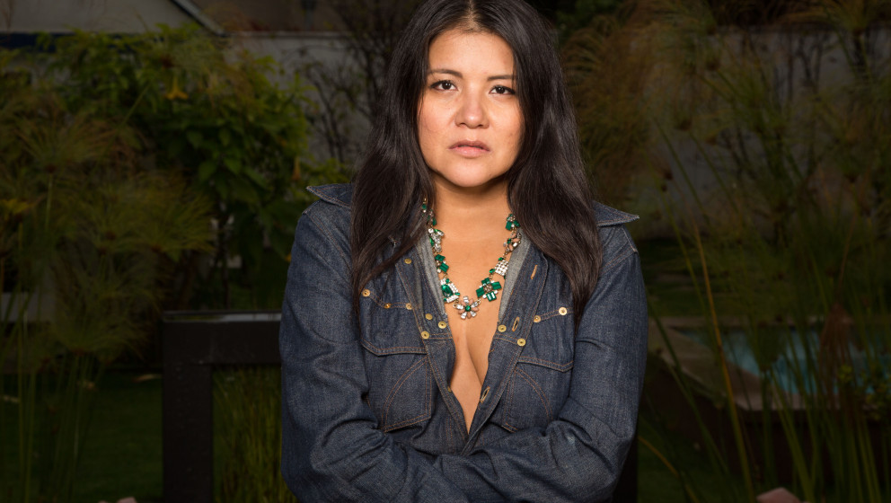 LOS ANGELES, CA - MARCH 01:  (EXCLUSIVE COVERAGE) Actress Misty Upham from 'August: Osage County' poses at private photo shoo