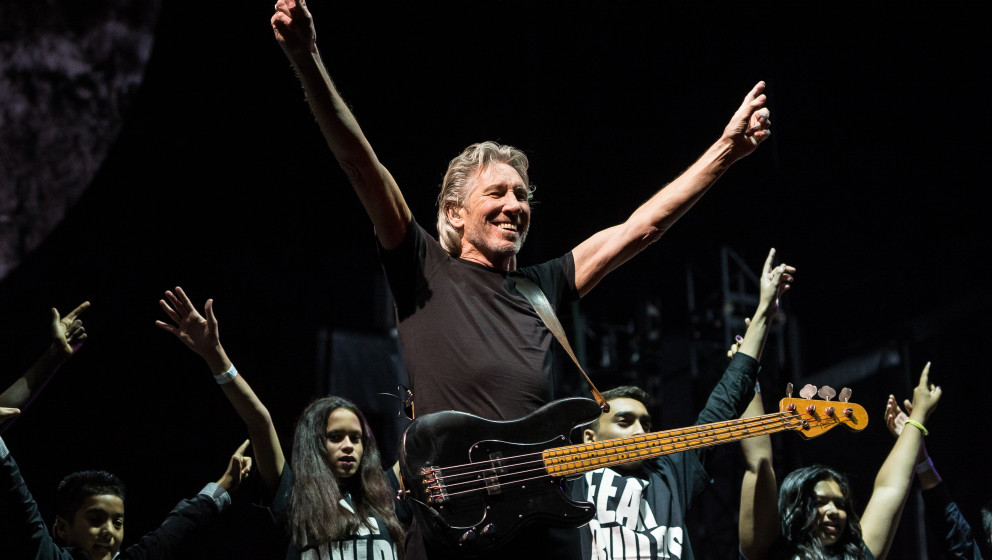 LONDON, UNITED KINGDOM - SEPTEMBER 20: English musician Roger Waters performing live on stage at Wembley Arena during a produ