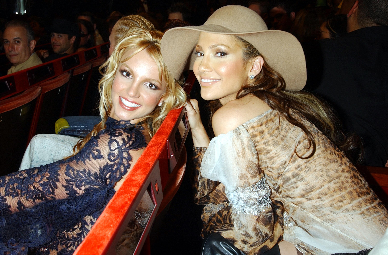 Britney Spears and Jennifer Lopez (Photo by KMazur/WireImage)