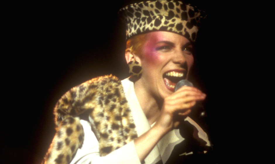 Annie Lennox of Eurythmics during Eurythmics in Concert at Los Angeles' Wilshire Theatre - April 25, 1984 at Wilshire Theatre