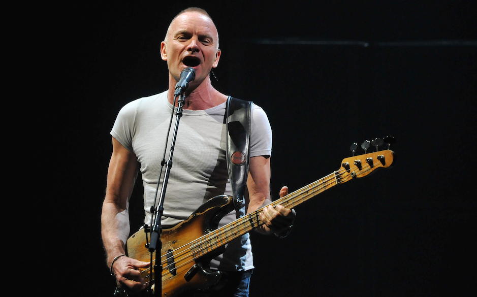 Sting performs live on stage during his 'Back to Bass' European tour, at HMV Hammersmith Apollo on March 19, 2012 in London,