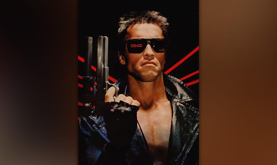 Terminator (The Terminator, USA 1984, Regie: James Cameron) Arnold Schwarzenegger / Mann Cyborg, Maschinenmensch, Lederjacke,