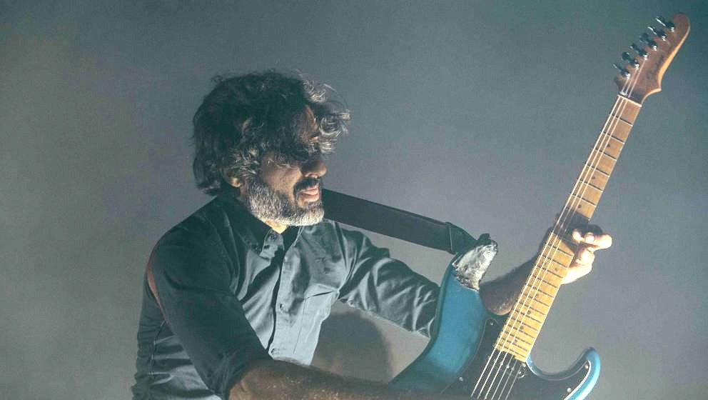 BIRMINGHAM, AL - APRIL 09:  Munaf Rayani of Explosions in the Sky performs at Iron City on April 9, 2017 in Birmingham, Alaba