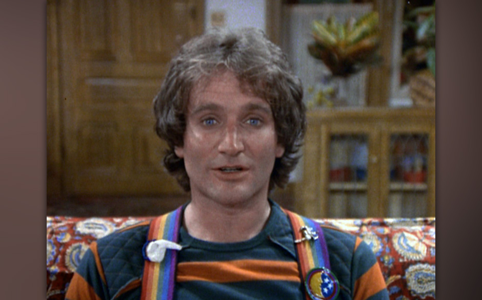 LOS ANGELES - JANUARY 18: MORK AND MINDY.  Robin Williams as Mork in ' Mork the Tolerant'.  Original airdate January 18, 1979