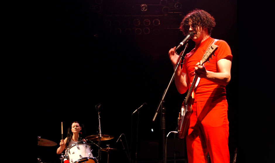 Meg White and Jack White of White Stripes during White Stripes In Concert At Radio City Music Hall, 2002 at Radio City Music