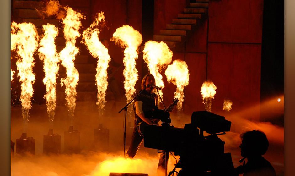 Chad Kroeger (in Deutschland geboren), Sänger Musikgruppe 'Nickelback', ZDF-Show 'Wetten, dass?', Bremen, Deutschland, 09.12