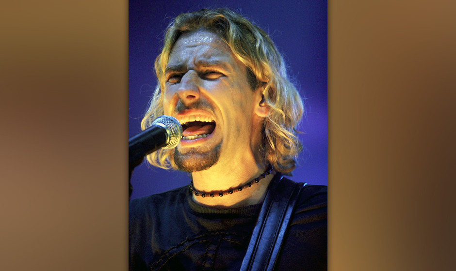 ATLANTIC CITY, NJ - OCTOBER 31:  (NO TABS)  Chad Kroeger of the band Nickleback to performs in the Borgata's Event Center Oct