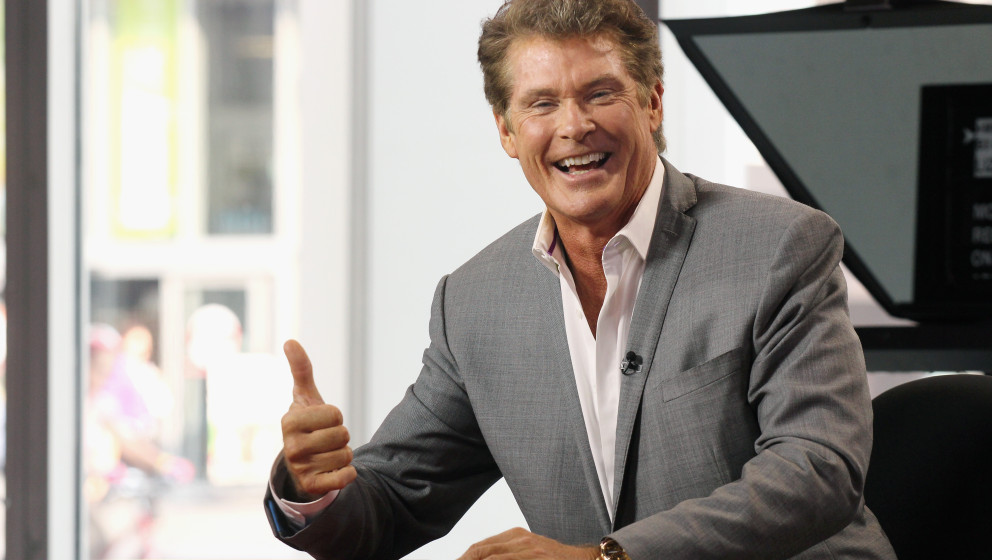 TORONTO, ON - AUGUST 22:  David Hasselhoff attends The Morning Show Studios on August 22, 2013 in Toronto, Canada.  (Photo by