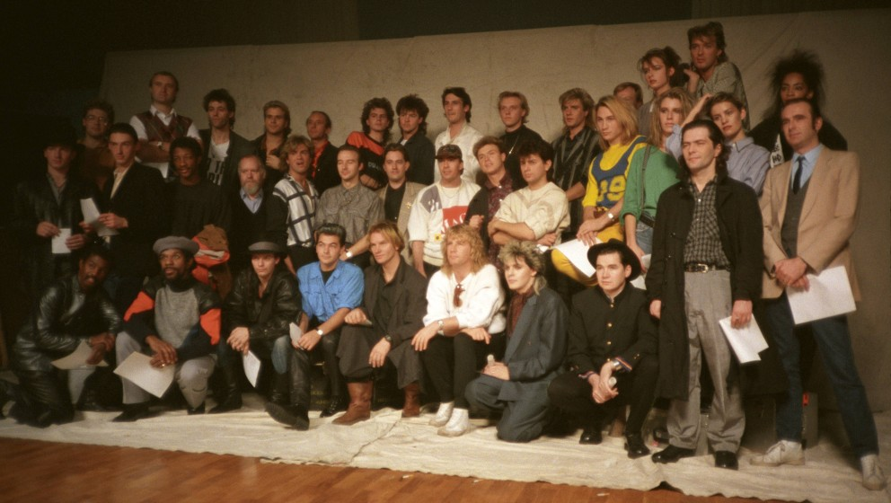 UNITED KINGDOM - NOVEMBER 26:  BASING ST STUDIOS  Photo of BAND AID  (Photo by Steve Hurrell/Redferns)