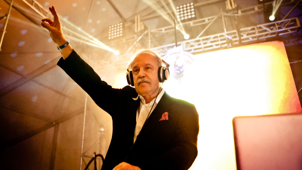 LOS ANGELES, CA - NOVEMBER 03:  Giorgio Moroder performs at HARD Day Of The Dead - Day 2 at Los Angeles Historical Park on No