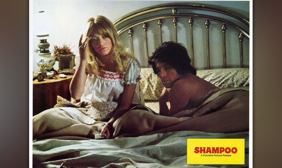 Warren Beatty und Goldie Hawn in Hal Ashbys 'Shampoo', 1975. Oscar-Nominierung für 'Best Writing, Original Screenplay'