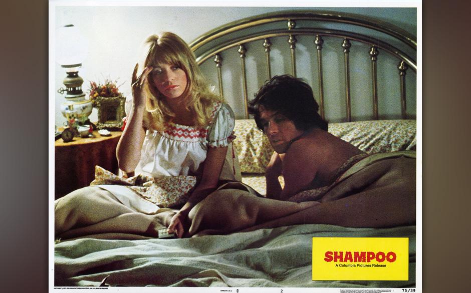 Warren Beatty und Goldie Hawn in Hal Ashbys 'Shampoo', 1975. Oscar-Nominierung für 'Best Writing, Original Screenplay'