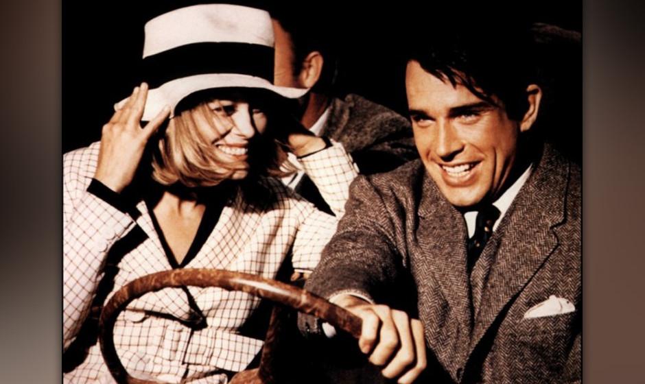 'Bonnie and Clyde', 1967, verkörpert von Faye Dunaway und Beatty.