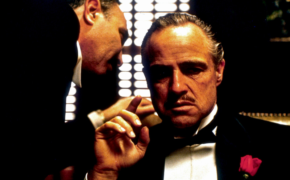 Coppolas 'The Godfather', 1972. Towne schrieb, ohne Autorencredit, einige der berühmtesten Dialoge des Films.