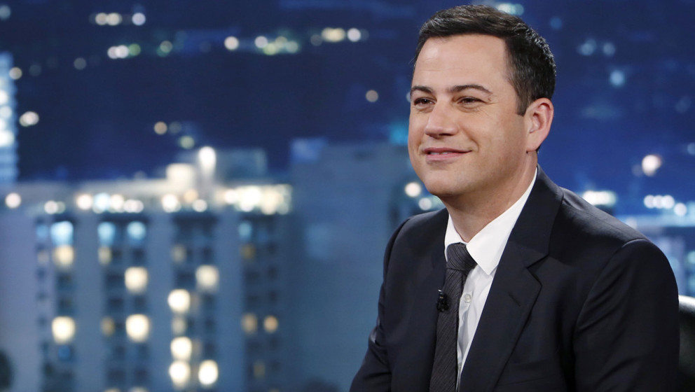 This July 3, 2013 photo released by ABC shows Jimmy Kimmel on 'Jimmy Kimmel Live' ABC's late-night host conducted what is bec